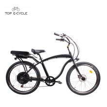 S1 enduro aluminium cadre arrière moteur électrique plage cruiser bicyclettes / ebike