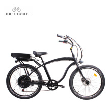 As bicicletas elétricas do cruzador da praia do motor traseiro do cubo do quadro do alumínio do enduro S1 / ebike