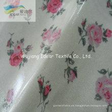 PVC laminado a tejido estampado de algodón de tapicería