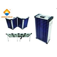80W-200W Mono / Poly alta eficiencia portátil de 4 módulos plegables de energía solar