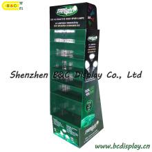 Pantalla LED de papel para suelos, Expositor para mostrador, Pantalla de cartón (B & C-A081)