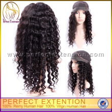 Density 100% Remy Virgin Dark Brown Baby Human Hair Full Lace Jerry Curl Wig
