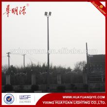 Poteau d'éclairage extérieur et de rue et poteau de surveillance galvanisé en acier