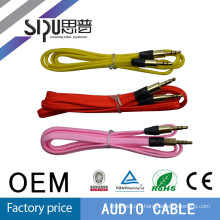 SIPU hot sale colorful gold connector 3.5mm audio vedio cable