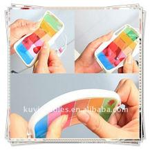 Caixa BRANCA BRANCA do arco-íris para a tampa da aleta do iphone 4 4G