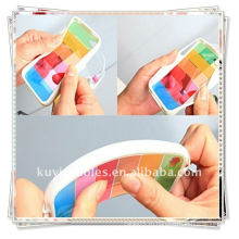 BRAND NEW Белый Радуга случаях для iphone 4 4G Flip Обложка