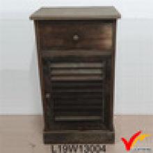 Французский стиль антикварные деревянные Пот Chic Chic прикроватные шкаф