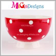 Exquisite with Custom Design OEM Welcome Ceramic Bowl