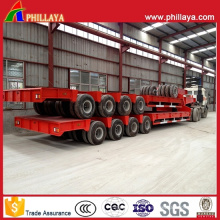 4lines 8axles 120tons Low Boy Trailer Semi Truck Lowbed Trailer