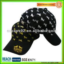gold embroidery baseball caps BC-0152