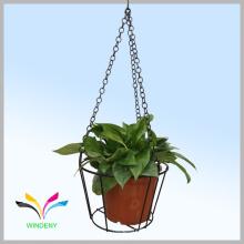 Estante colgante del pote de flor del alambre de metal del diseño de la fuente de Facoty de la alta calidad con precio competitivo