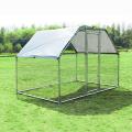 Gibbon Metal DIY Walk-in Chicken Coop или Chicken Run с фиолетовой водонепроницаемой крышкой, уличная клетка для птицы на заднем дворе
