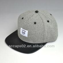 black leather snapback caps