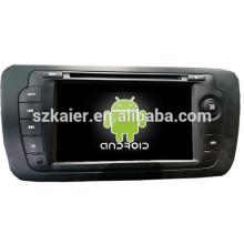 Android 4.4 Miroir-lien Glonass / GPS 1080P dual core voiture multimédia central pour VW Seat avec GPS / Bluetooth / TV / 3G