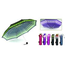 Print Satin Windproof Aluminium Compact Umbrella (YS-3FM21083941R)