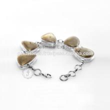 Semi Precious Gemstone with Silver Indian Fashion Jewelry