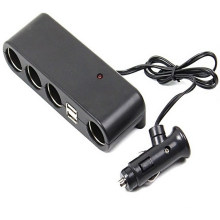a Cigarette Lighter with Four / USB/ Car Charger
