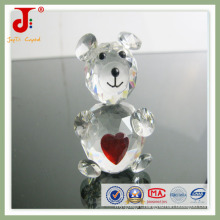 Popular Home Decoration Animals Crystal Bear with Heart