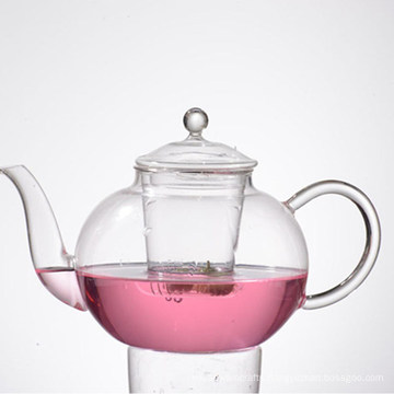 Clear Instant Glass Thermo Pot Tea with Filter