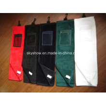 100% Cotton Golf Towel with Pocket (SST1018)