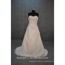 EN STOCK Vestido de boda sin tirantes del vestido de bola Vestido nupcial del piso-longitud SW09