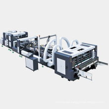 Automatic gluer and stitching machine for carton