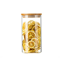 wholesale high quality container glass jar set with lid storage bottles jars food