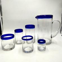 jarra de vidrio saludable vaso de vidrio de bola alta para beber