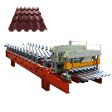 Kyrgyzstan type trapezoidal roll making glazed tiles small roof tiles machine for roofing panel