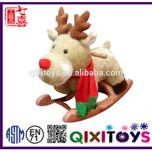 High quality popular toy plush deer rocking horse