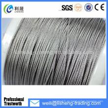 Cable de acero galvanizado de alta resistencia a la tracción 8x19 Cuerda de alambre de acero