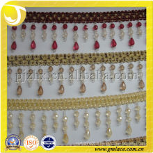 Beautiful Design beads Curtain Hanging Tassel fringe trim for home and Textile Decor,lace for pillows fringe