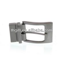 Custom metal belt buckle with silver plating