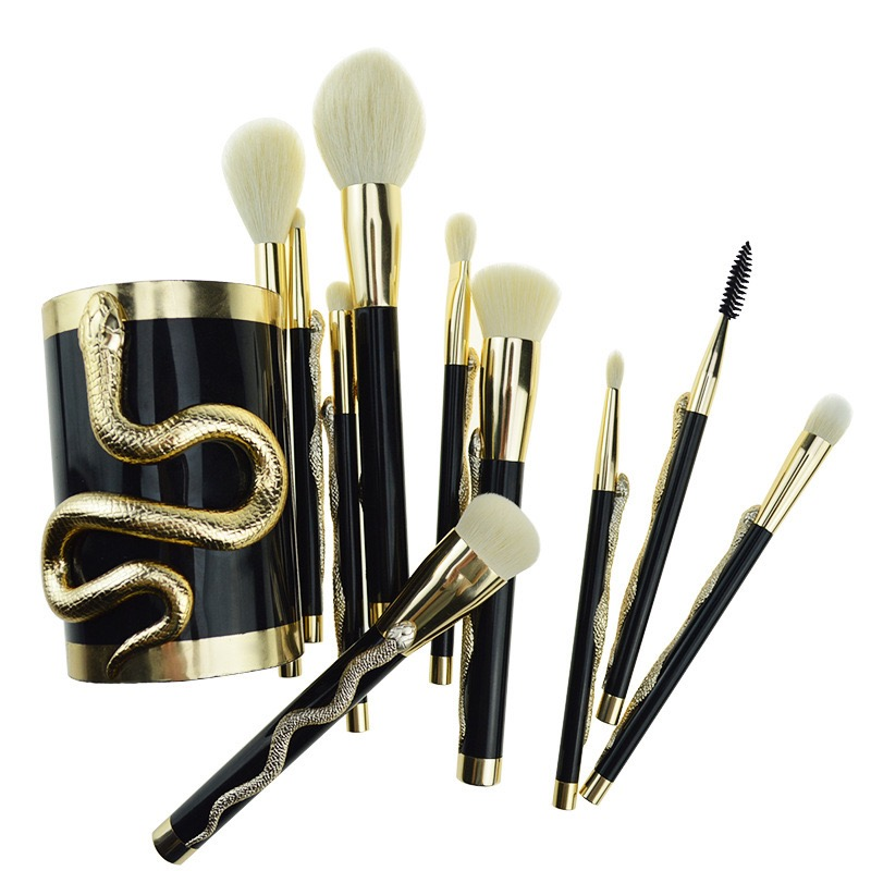 10 Pcs Snake Makeup Brush Set 5