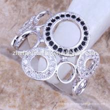 Neuestes Design Paar Ringe mit Zirkonia Serviette Ringe Rhodium überzogene Schmuck ist Ihre gute Wahl