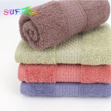 2018 домашнего использования полотенце/100% хлопок сплошной цвет полотенца ванны гостиницы