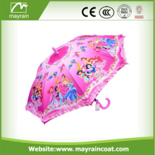 Open Stright Drawing Kids Umbrella With Printing