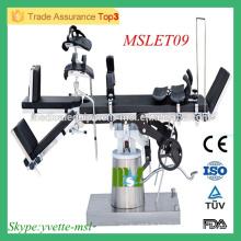 MSLET10M Polyvalence, fonctionnement facile, bon et bon marché Table d'opération prix table en acier inoxydable