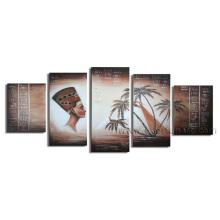 Arte popular de la lona Arte africano Figurativo Pintura al óleo (AR-078)