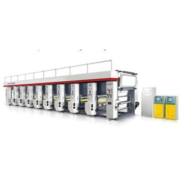Máquina de impressão em rotogravura computadorizada multicolorida de alta velocidade