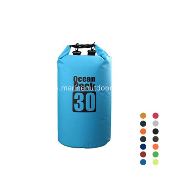Durable Custom Logo PVC Waterproof 30L Dry Bag Back Pack