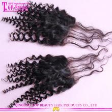 Темный корень ткет 100г/шт монгольский вьющиеся переплетения вьющиеся волосы с закрытием