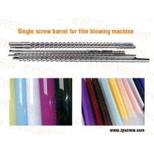 Barril de parafuso único para máquina de sopro de filme