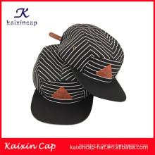 dernier style et vente chaude blanc sergé noir couronne ordinaire bord modèle 5 panneaux camper caps nouveauté