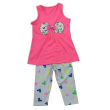 Ropa de los niños de la flor en juego de los niños con la impresión en el 70% Pantalón SGS-105