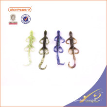SLL086 Wholesale free sample soft fishing lure soft plastic lizard lure