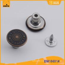 Bouton métallique, boutons Jean personnalisés BM1691