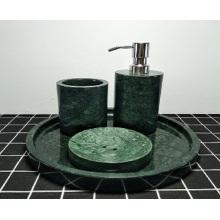 dark green marble bath bottle