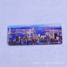 2016 boa qualidade barata feita sob encomenda feita ímãs do refrigerador do papel da lembrança do turista de Hong Kong da qualidade e refrigerador dos ímãs