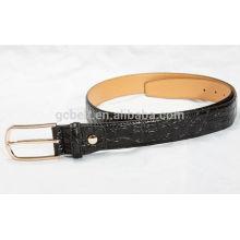 Man's 3cm black col fashionable PU waist belt